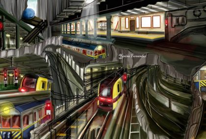 """Sobre trenes y túneles: murales en el subte """"A"""""""