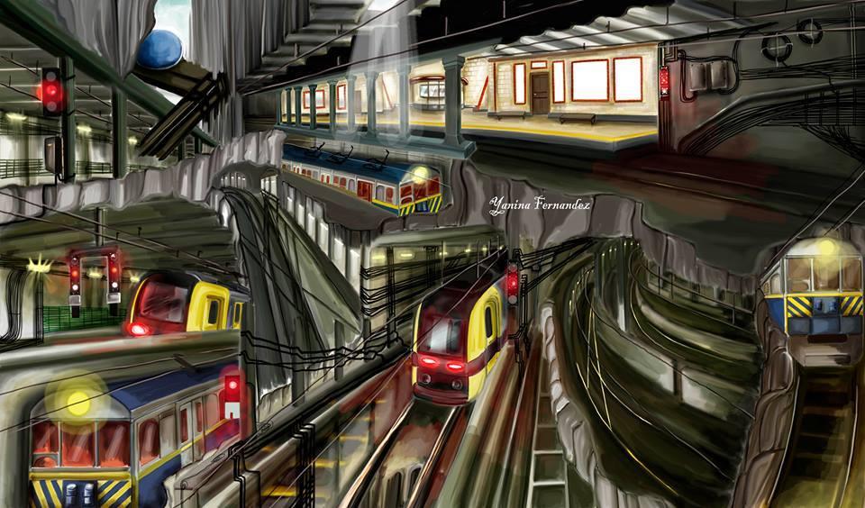 Sobre trenes y túneles: murales en el subte &#822...